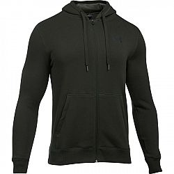 Under Armour RIVAL FITTED FULL ZIP tmavo zelená XL - Pánska mikina
